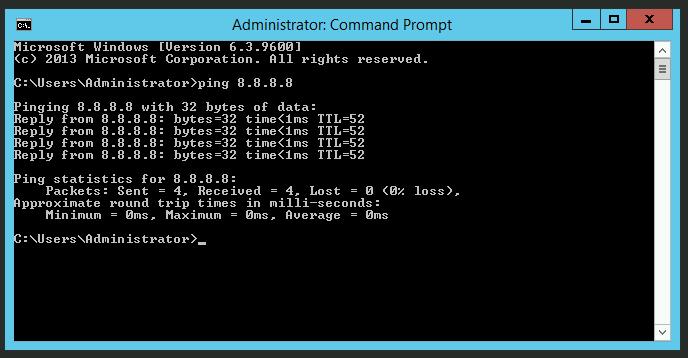 Test Ping dengan Windows (CMD)