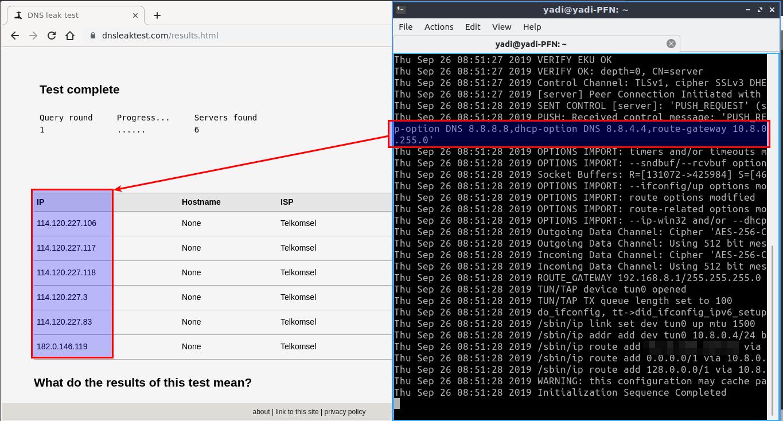1.1 - Test DNSLeak dengan VPN
