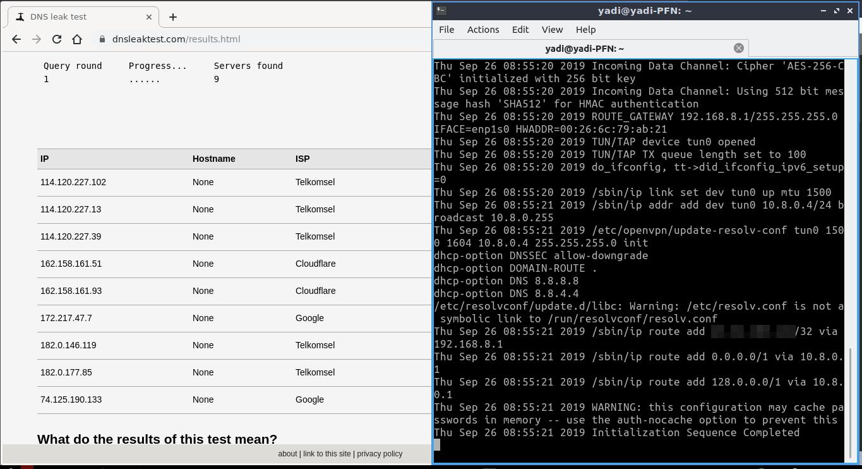 1.4 - Hasil test setelah perubahan config