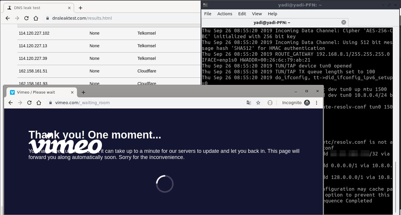 1.5 - Test Web Vimeo Dengan Config Baru