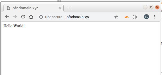 1.3 – Domain sudah bisa diakses